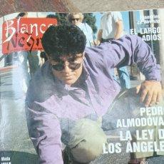 Coleccionismo de Revista Blanco y Negro: REVISTA BLANCO Y NEGRO 1989 SUMARIO. PEDRO ALMODOVAR LA CONQUISTA DE AMÉRICA- LOS RONALDOS. Lote 274813783
