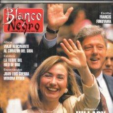 Colecionismo de Revistas Preto e Branco: REVISTA BLANCO Y NEGRO Nº 3838 AÑO 1993. JUAN LUIS GUERRA. VANESSA PARADIS.BONIFACIO.HILLARY CLINTON. Lote 275151663