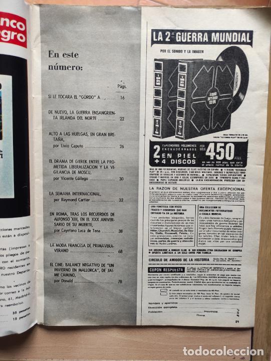 Coleccionismo de Revista Blanco y Negro: Nº 3068 20 FEBRERO 1971 - ALFONSO XIII 30 ANIVERSARIO MUERTE - GUERRA IRLANDA NORTE - LUCIA BOSE 86p - Foto 5 - 276395183
