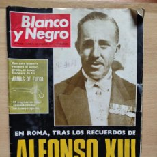 Coleccionismo de Revista Blanco y Negro: Nº 3068 20 FEBRERO 1971 - ALFONSO XIII 30 ANIVERSARIO MUERTE - GUERRA IRLANDA NORTE - LUCIA BOSE 86P. Lote 276395183