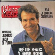 Colecionismo de Revistas Preto e Branco: REVISTA BLANCO Y NEGRO Nº 3719 AÑO 1990. JOSÉ LUIS PERALES. ROB LOWE. RICARDO SAINZ.. Lote 276562588
