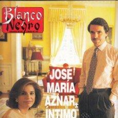 Coleccionismo de Revista Blanco y Negro: REVISTA BLANCO YNEGRO Nº 4053 AÑO 1997. INÉS SÁINZ MISS ESPAÑA. JOSÉ MARÍA AZNAR.. Lote 276747983