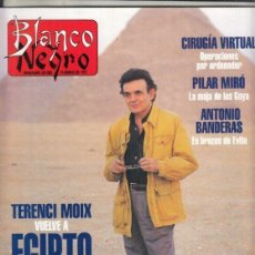 Coleccionismo de Revista Blanco y Negro: REVISTA BLANCO Y NEGRO Nº 4047 AÑO 1997. PILAR MIRÓ. ANTONIO BANDERAS. BELÉN CAVESTANY. TERENCI MOIX. Lote 276748628