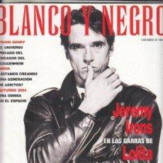 Coleccionismo de Revista Blanco y Negro: REVISTA BLANCO Y NEGRO Nº 4084 AÑO 1997. JEREMY IRONS. FRANK GEHRY.. Lote 277014343