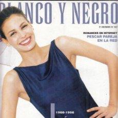 Coleccionismo de Revista Blanco y Negro: REVISTA BLANCO Y NEGRO Nº 4095 AÑO 1997. RAPHAEL. JULIAN SCHNABEL. INÉS SASTRE.. Lote 277021828