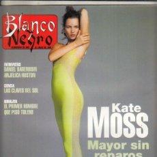 Coleccionismo de Revista Blanco y Negro: REVISTA BLANCO Y NEGRO Nº 4021 AÑO 1996. KATE MOSS. DANIEL BARENBOIN. CORO LÓPEZ IZQUIERDO.A. HUSTON. Lote 277136538