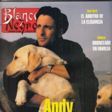 Coleccionismo de Revista Blanco y Negro: REVISTA BLANCO Y NEGRO Nº 4019 AÑO 1996. ANDY GARCÍA. TOM FORD. CARMEN DÍEZ.. Lote 277137213