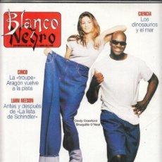 Coleccionismo de Revista Blanco y Negro: REVISTA BLANCO Y NEGRO Nº 4007 AÑO 1996. NACHO CANO. CINDY CRAWFORD Y SHAQUILLE O´NEAL. LIAM NEESON.. Lote 277144538