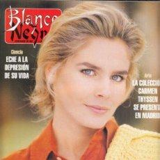 Coleccionismo de Revista Blanco y Negro: REVISTA BLANCO Y NEGRO Nº 4003 AÑO 1996. CARMEN THYSSEN. JACQUELINE BISSET.. Lote 277145683