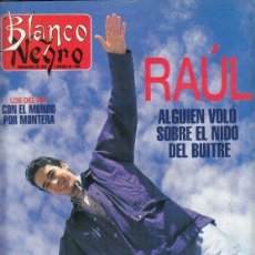 Coleccionismo de Revista Blanco y Negro: REVISTA BLANCO Y NEGRONº 4001 AÑO 1996. RAÚL. LOS DEL RÍO. BERNANRDO YNZENGA.. Lote 277146553