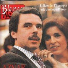 Coleccionismo de Revista Blanco y Negro: REVISTA BLANCO Y NEGRO Nº 4000 AÑO 1996. JODIE FOSTER. WILLIAN BLAKE. AZNAR.. Lote 277146748