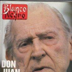 Coleccionismo de Revista Blanco y Negro: REVISTA BLANCO Y NEGRO Nº 3599 AÑO 1988. DON JUAN DE BORBON. JUAN BARRANCO. DIEGO VEGA. B.WESTENDORP. Lote 277510813