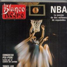Coleccionismo de Revista Blanco y Negro: REVISTA BLANCO Y NEGRO Nº 3596 AÑO 1988. NBA. SOLEDAD ORTEGA. JESUS YANES. NOVENTA AÑOS DE LORCA.. Lote 277511948
