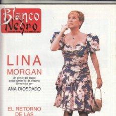Coleccionismo de Revista Blanco y Negro: REVISTA BLANCO Y NEGRO Nº 3585 AÑO 1988. LINA MORGAN. KIO.. Lote 277517613
