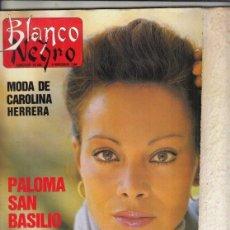 Coleccionismo de Revista Blanco y Negro: REVISTA BLANCO Y NEGRO Nº 3619 AÑO 1988. PALOMA SAN BASILIO.JOSÉ MARÍA CASADELLÁ. JAVIER MARISCAL.. Lote 277602963