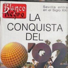 Coleccionismo de Revista Blanco y Negro: REVISTA BLANCO Y NEGRO Nº 3618 AÑO 1988. LA CONQUISTA DEL 92. JOSÉ RODRÍGUEZ DE LA BORBOLLA.. Lote 277603183