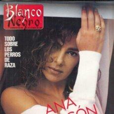 Coleccionismo de Revista Blanco y Negro: REVISTA BLANCO Y NEGRO Nº 3617 AÑO 1988. ANA OBREGÓN. ISABEL SAURAS. MANUEL VILLASEÑOR.. Lote 277603373