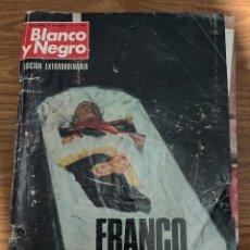 Coleccionismo de Revista Blanco y Negro: FRANCO HA MUERTO, REVISTA BLANCO Y NEGRO (EDICION EXTRAORDINARIA) NOVIEMBRE 1975. Lote 278563363