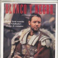 Coleccionismo de Revista Blanco y Negro: REVISTA BLANCO Y NEGRO Nº 4185 AÑO 1999. ALBERT RÀFOLS-CASAMADA. GLADIATOR RIDLEY SCOTT.,. Lote 278574138