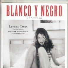 Coleccionismo de Revista Blanco y Negro: REVISTA BLANCO Y NEGRO Nº 4183 AÑO 1999. LETICIA CASTA.ALBERTO CASTRI-TIRADO. CENTRO GETTY.. Lote 278574613