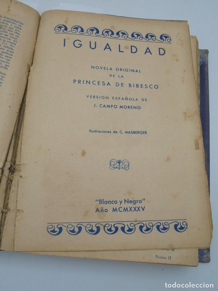 Coleccionismo de Revista Blanco y Negro: BLANCO Y NEGRO. 15 NOVELAS ENCUADERNADAS. 1934-35-36. VER FOTOS. LEER. - Foto 9 - 282528293