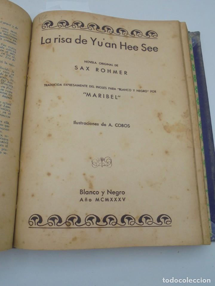 Coleccionismo de Revista Blanco y Negro: BLANCO Y NEGRO. 15 NOVELAS ENCUADERNADAS. 1934-35-36. VER FOTOS. LEER. - Foto 10 - 282528293