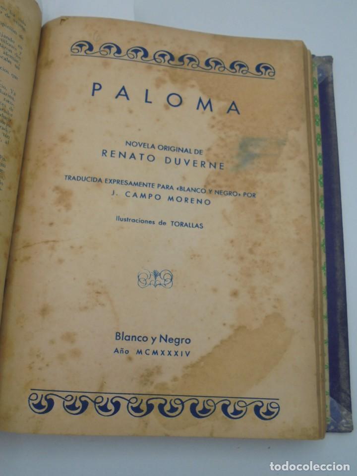 Coleccionismo de Revista Blanco y Negro: BLANCO Y NEGRO. 15 NOVELAS ENCUADERNADAS. 1934-35-36. VER FOTOS. LEER. - Foto 12 - 282528293