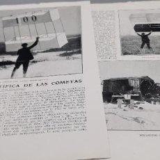 Coleccionismo de Revista Blanco y Negro: * METEOROLOGÍA * APLICACIÓN CIENTÍFICA DE LAS COMETAS - 1920. Lote 283822323