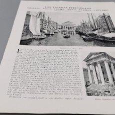 Coleccionismo de Revista Blanco y Negro: * ITALIA * LAS TIERRAS IRREDENTAS: TRIESTE, POLA, FIUME, TRAU, RAGUSA, CATTARO - 1920 3 HOJAS. Lote 283822673