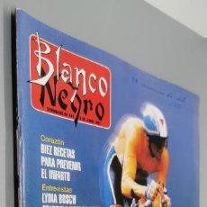 Coleccionismo de Revista Blanco y Negro: MIGUEL INDURAIN FURIA ESPAÑOLA - REVISTA BLANCO Y NEGRO AÑO 1993 DEPORTE CICLISMO - UMA THURMAN CINE. Lote 285107948