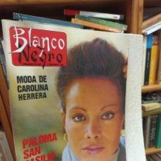 Coleccionismo de Revista Blanco y Negro: REVISTA BLANCO Y NEGRO. N. 3619. 1988. PALOMA SAN BASILIO. Lote 286842298