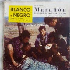 Coleccionismo de Revista Blanco y Negro: BLANCO Y NEGRO. ABRIL 1960.Nº 2.500. MARAÑON.VITTORIO DE SICA.MARIA ARANZAZU. REVISTA. Lote 287971488