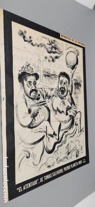 REPORTAJE EL ATENTADO TOMAS SALVADOR PREMIO PLANETA 1960 4 HOJAS (Coleccionismo - Revistas y Periódicos Modernos (a partir de 1.940) - Blanco y Negro)