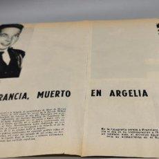 Coleccionismo de Revista Blanco y Negro: FRANCISCO DE FRANCIA MUERE EN ARGELIA HIJO DE LOS CONDES DE FRANCIA AÑO 1960. Lote 289491468