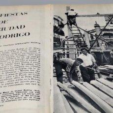 Coleccionismo de Revista Blanco y Negro: FIESTAS DE CIUDAD RODRIGO. 1960. Lote 289493283