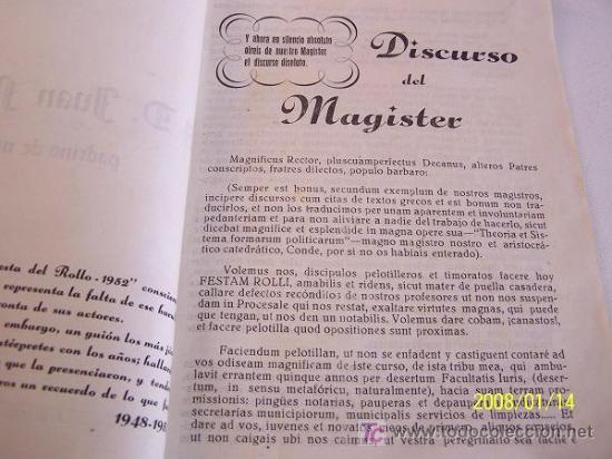 Coleccionismo de Revista Cambio 16: FIESTA DEL ROLLO, 1952.-ESCRIBE, DIRIGE E INTERPRETA LA PROMOCIÓN 1948-1953.-GRÁF. M. BLANCO-MAD. - Foto 3 - 17085110