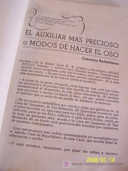 Coleccionismo de Revista Cambio 16: FIESTA DEL ROLLO, 1952.-ESCRIBE, DIRIGE E INTERPRETA LA PROMOCIÓN 1948-1953.-GRÁF. M. BLANCO-MAD. - Foto 4 - 17085110