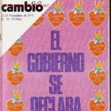 Coleccionismo de Revista Cambio 16: CAMBIO 16. Lote 1448747
