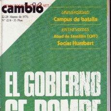 Coleccionismo de Revista Cambio 16: CAMBIO 16. Lote 1449306