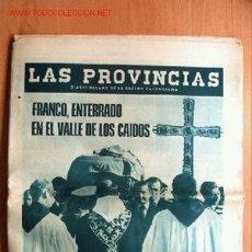 Coleccionismo de Revista Cambio 16: LAS PROVINCIAS MARTES 25 NOVIEMBRE 1975. ENTIERRO DE FRANCO EN EL VALLE DE LOS CAIDOS. Lote 17061881