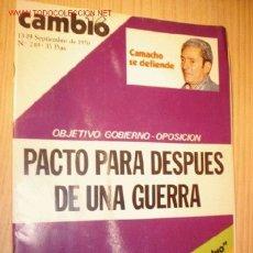 Coleccionismo de Revista Cambio 16: REVISTA - CAMBIO 16 - Nº 249, SEPTIEMBRE 1976.. Lote 1669664