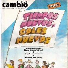 Coleccionismo de Revista Cambio 16: REVISTA CAMBIO 16 - Nº 407 - 1979 - PAIS VALENCIANO - GOBIERNO: CRISIS - BARCELONA EL ROBO DEL SIGLO. Lote 25022209