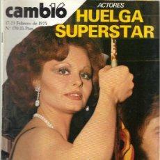 Coleccionismo de Revista Cambio 16: CAMBIO 16 Nº 170 - HUELGA SUPERSTAR - 17/23.02.1975. Lote 20756285