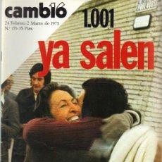 Coleccionismo de Revista Cambio 16: CAMBIO 16 Nº 171 - 1001 YA SALEN - 24.02/02.03.1975. Lote 20756286