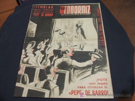 REVISTA LA CODORNIZ - Nº 468 - 29 OCTUBRE 1.950 - (Coleccionismo - Revistas y Periódicos Modernos (a partir de 1.940) - Revista Cambio 16)