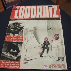 Coleccionismo de Revista Cambio 16: REVISTA LA CODORNIZ - Nº 458 - 20 AGOSTO 1.950 - . Lote 16901654