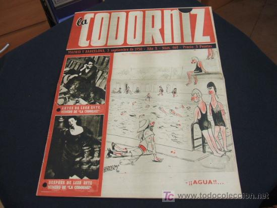 REVISTA LA CODORNIZ - Nº 460 - 3 SEPTIEMBRE 1.950 - (Coleccionismo - Revistas y Periódicos Modernos (a partir de 1.940) - Revista Cambio 16)