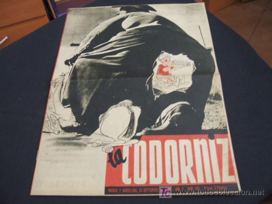 REVISTA LA CODORNIZ - Nº 463 - 24 SEPTIEMBRE 1.950 - (Coleccionismo - Revistas y Periódicos Modernos (a partir de 1.940) - Revista Cambio 16)