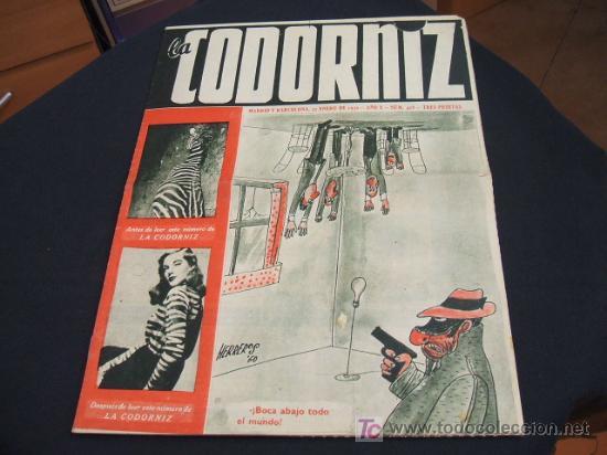 REVISTA LA CODORNIZ - Nº 428 - 22 ENERO 1.950 - (Coleccionismo - Revistas y Periódicos Modernos (a partir de 1.940) - Revista Cambio 16)