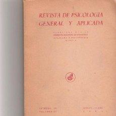 Coleccionismo de Revista Cambio 16: REVISTA DE PSICOLOGIA GENERAL Y APLICADA - VOL XI - Nº 38 -. Lote 16971601